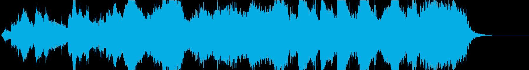 アバンギャルドなBGMの再生済みの波形