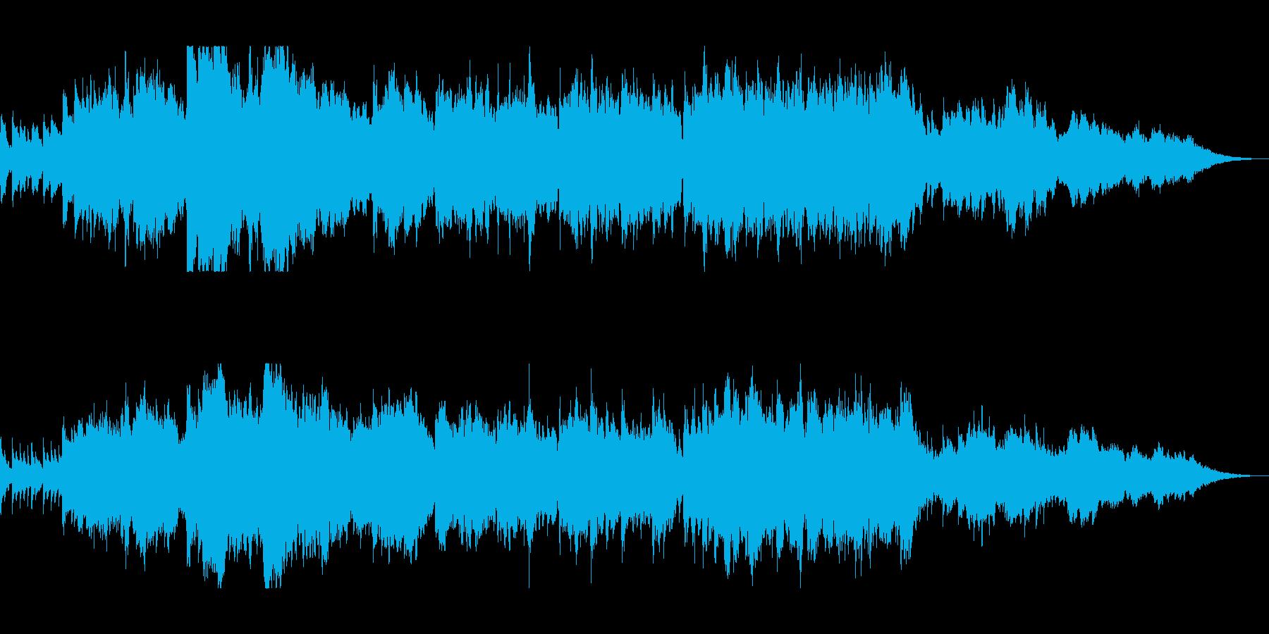 壮大で感動的なクリスマスオーケストラの再生済みの波形