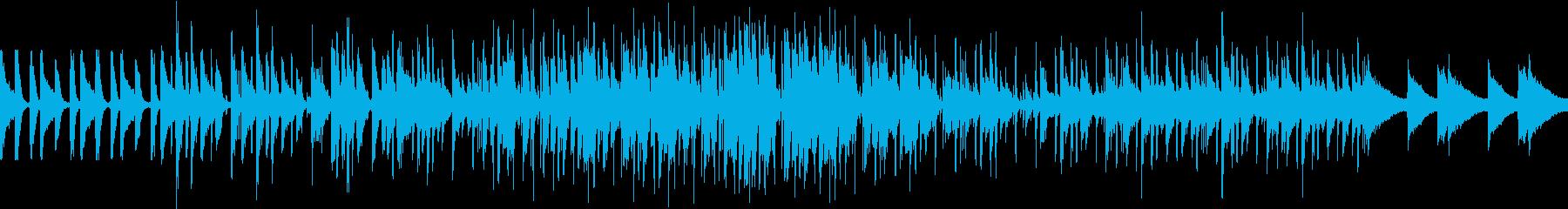 ゲームの酒場をイメージしたポップピアノ曲の再生済みの波形