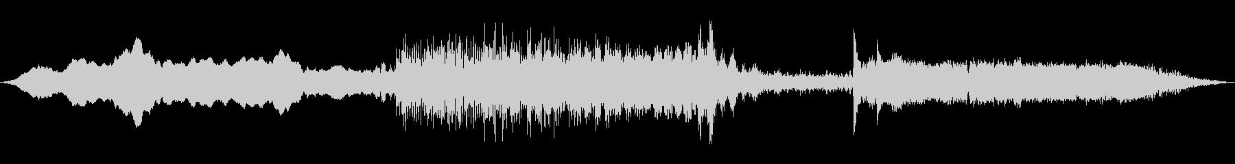 空間破壊音楽パッドの未再生の波形
