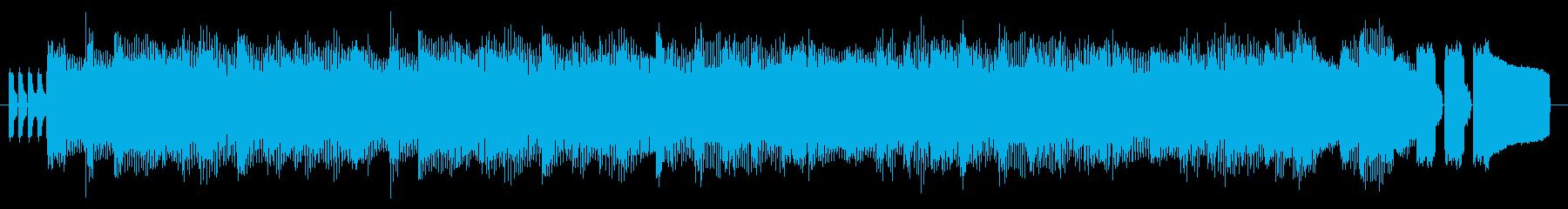 GB風対戦格闘ゲームのタイトル曲の再生済みの波形