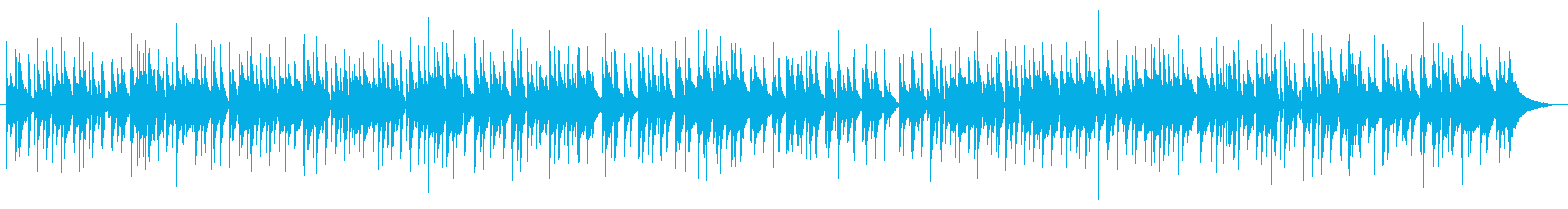 ほのぼののんびりしたウクレレの再生済みの波形