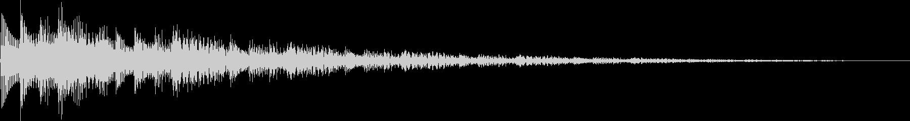 決定音/ボタン/システム/シンプル A3の未再生の波形