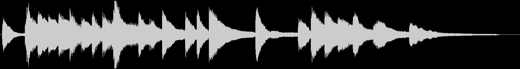 ピアノ_場面展開_ゲームオーバーの未再生の波形