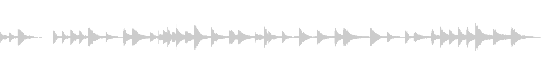ソフトタッチピアノのみのヒーリング曲の未再生の波形
