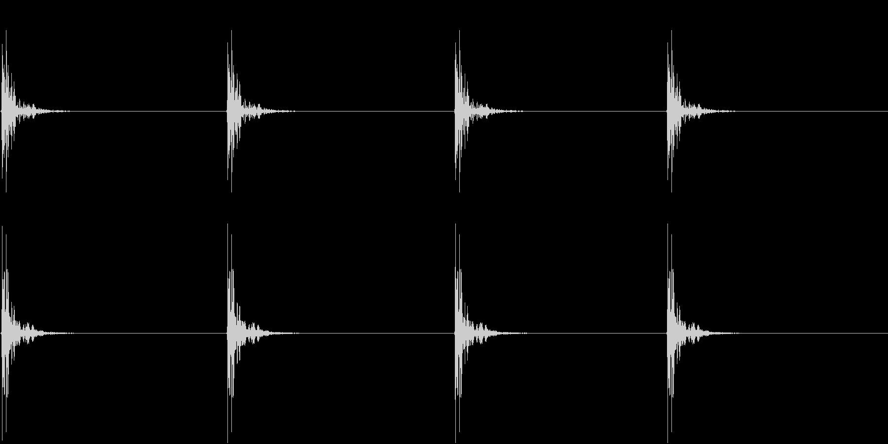 【生録音】包丁で切る音 トントン 1の未再生の波形