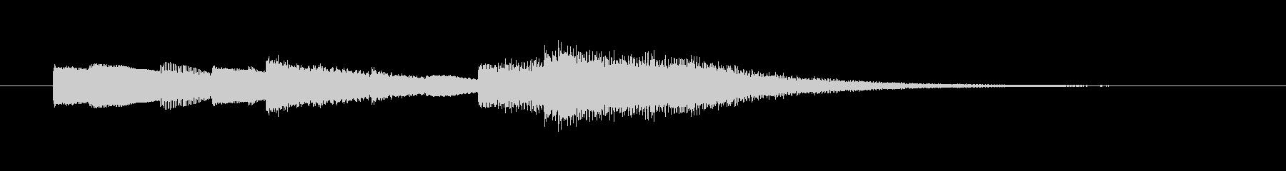 優しい音色のサウンドロゴの未再生の波形