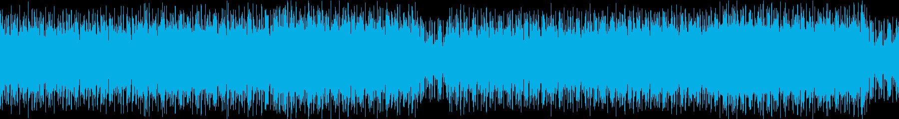 シンセが目立つ疾走感のあるブレイクビーツの再生済みの波形