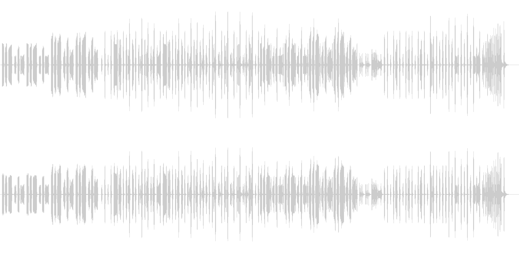 クッキングなほのぼのBGM1の未再生の波形