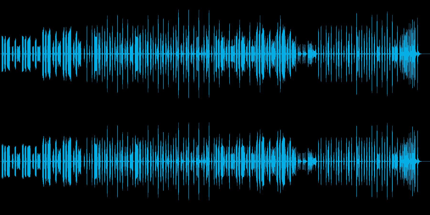 クッキングなほのぼのBGM1の再生済みの波形