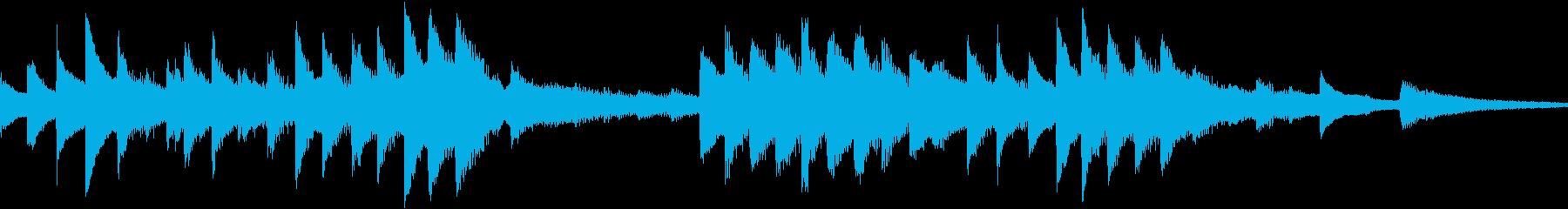 ロマンチックなメロディのピアノBGMの再生済みの波形
