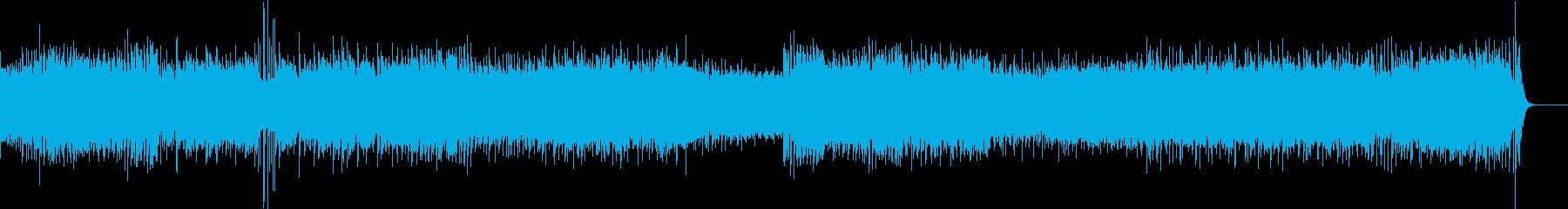 躍動感のあるOP映像のためのBGMの再生済みの波形