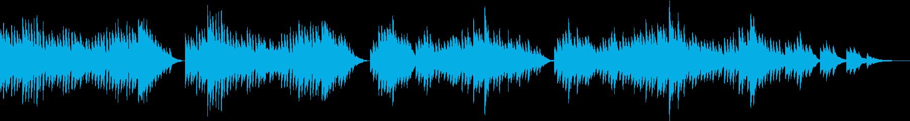 優しいメロディが心を和ませてくれるピアノの再生済みの波形