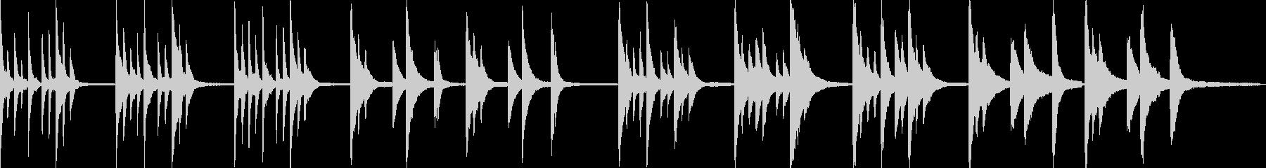 静かなピアノアンビエントの未再生の波形