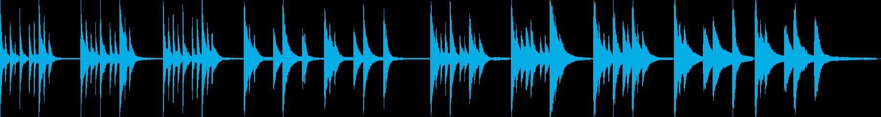 静かなピアノアンビエントの再生済みの波形