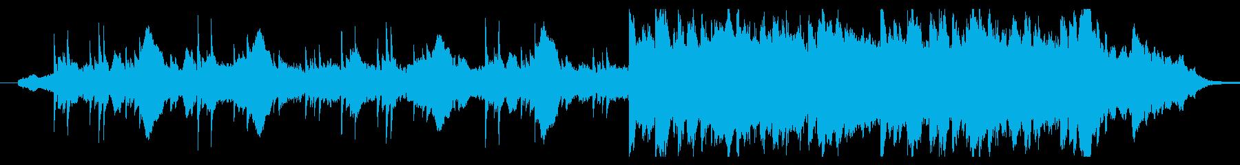 細く美しいしっとりしたピアノの曲の再生済みの波形