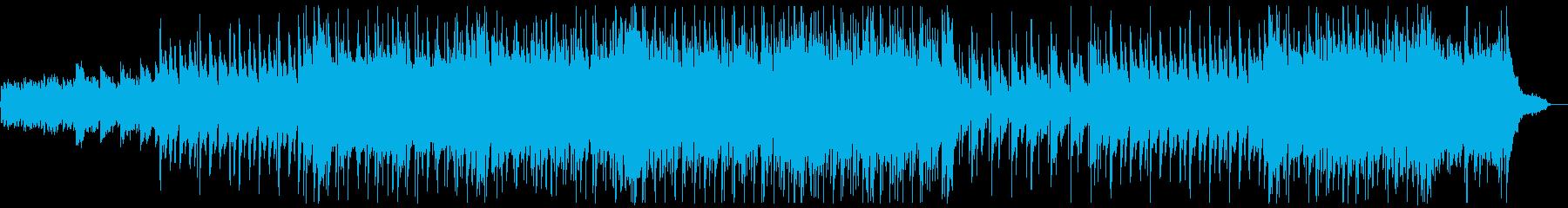 明るいフォークギターポップス:フルx1の再生済みの波形