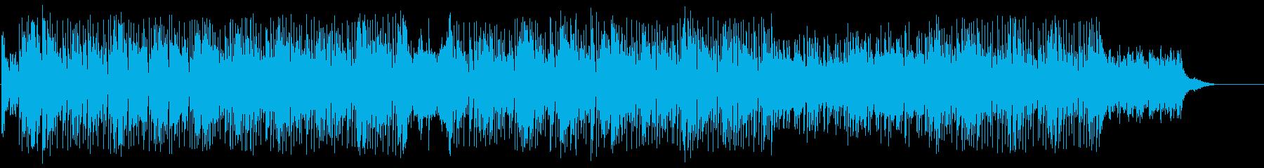 近未来のファンキーなマイナーテクノポップの再生済みの波形