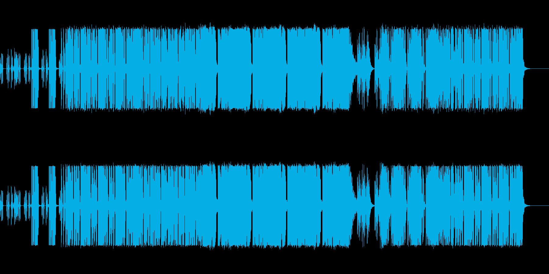 怪しい雰囲気の謎風ダブステップの再生済みの波形