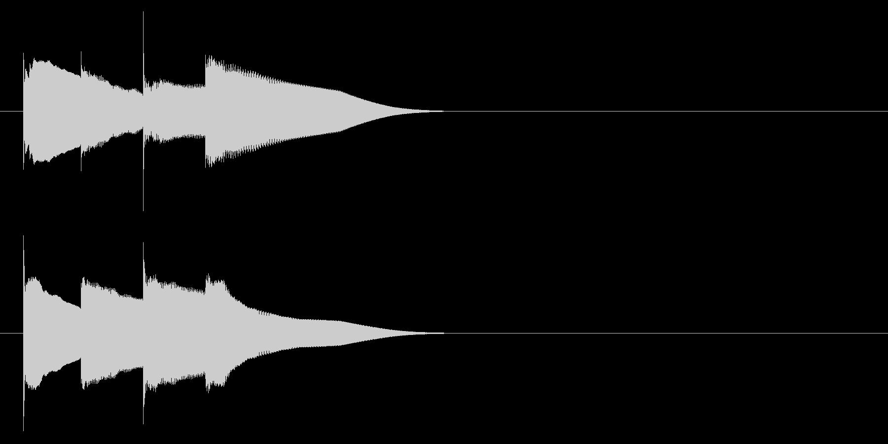 グロッケン系 キャンセル音6(大)の未再生の波形