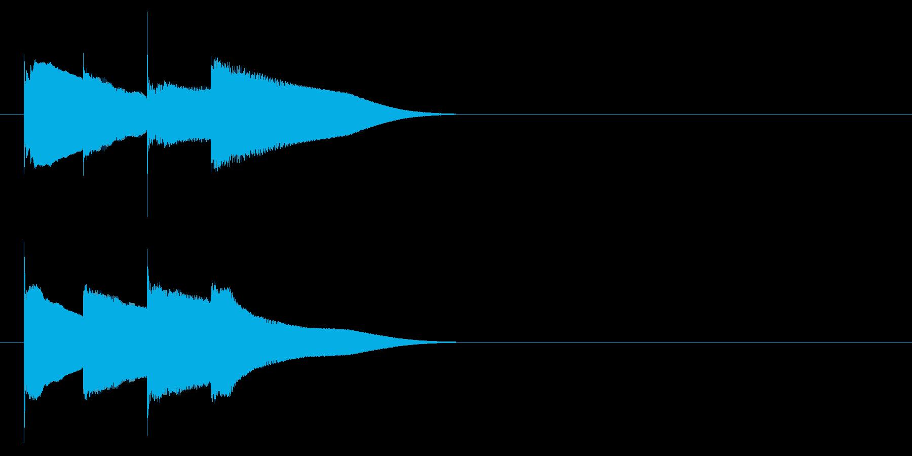 グロッケン系 キャンセル音6(大)の再生済みの波形