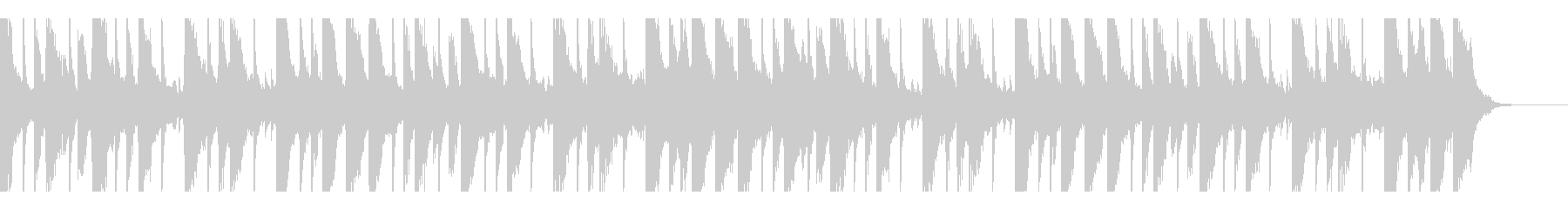 ピアノが切ないメロディーのBGMの未再生の波形