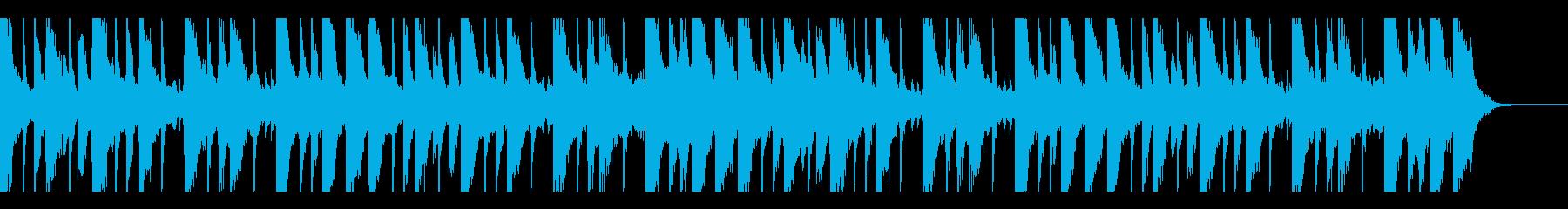 ピアノが切ないメロディーのBGMの再生済みの波形