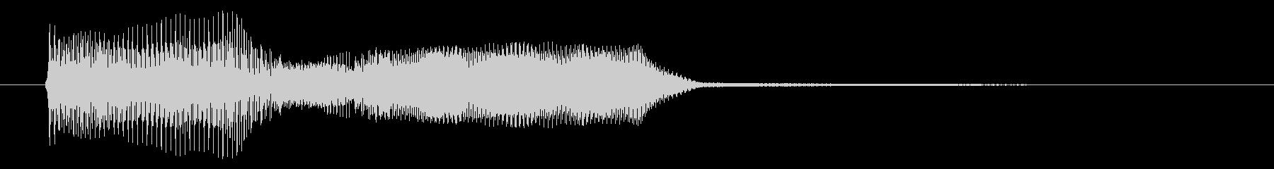 不穏なチェロのひびきの未再生の波形
