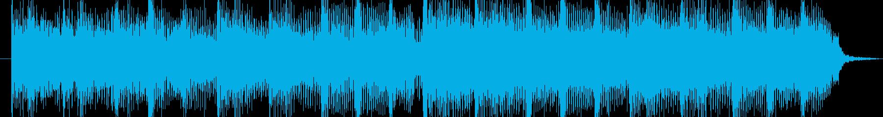 インパクトのあるハードロックジングルの再生済みの波形