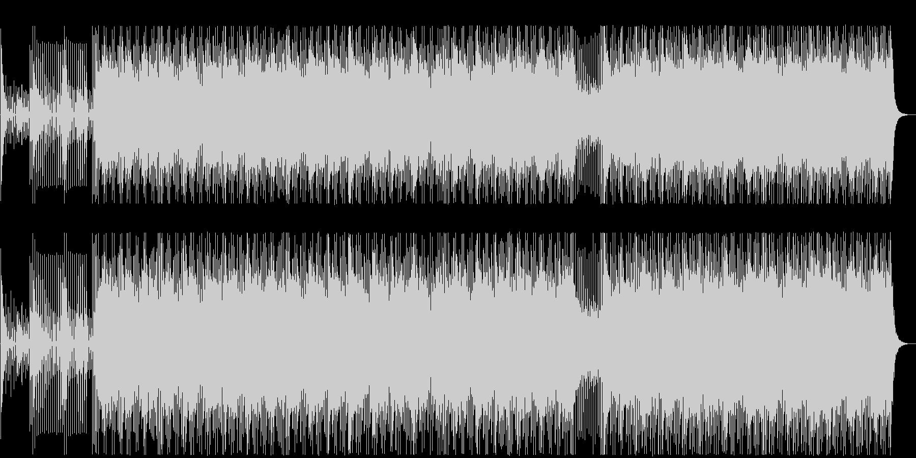 アップテンポでリズミカルなBGMの未再生の波形