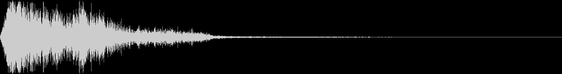 ひゅーん、バリッ、バリ...の未再生の波形