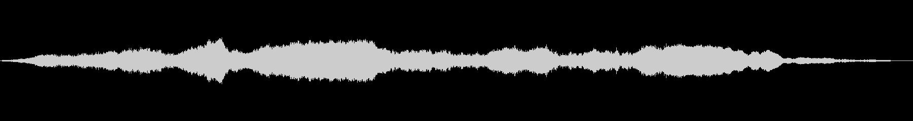 ownれた低音のシンセトーンの未再生の波形