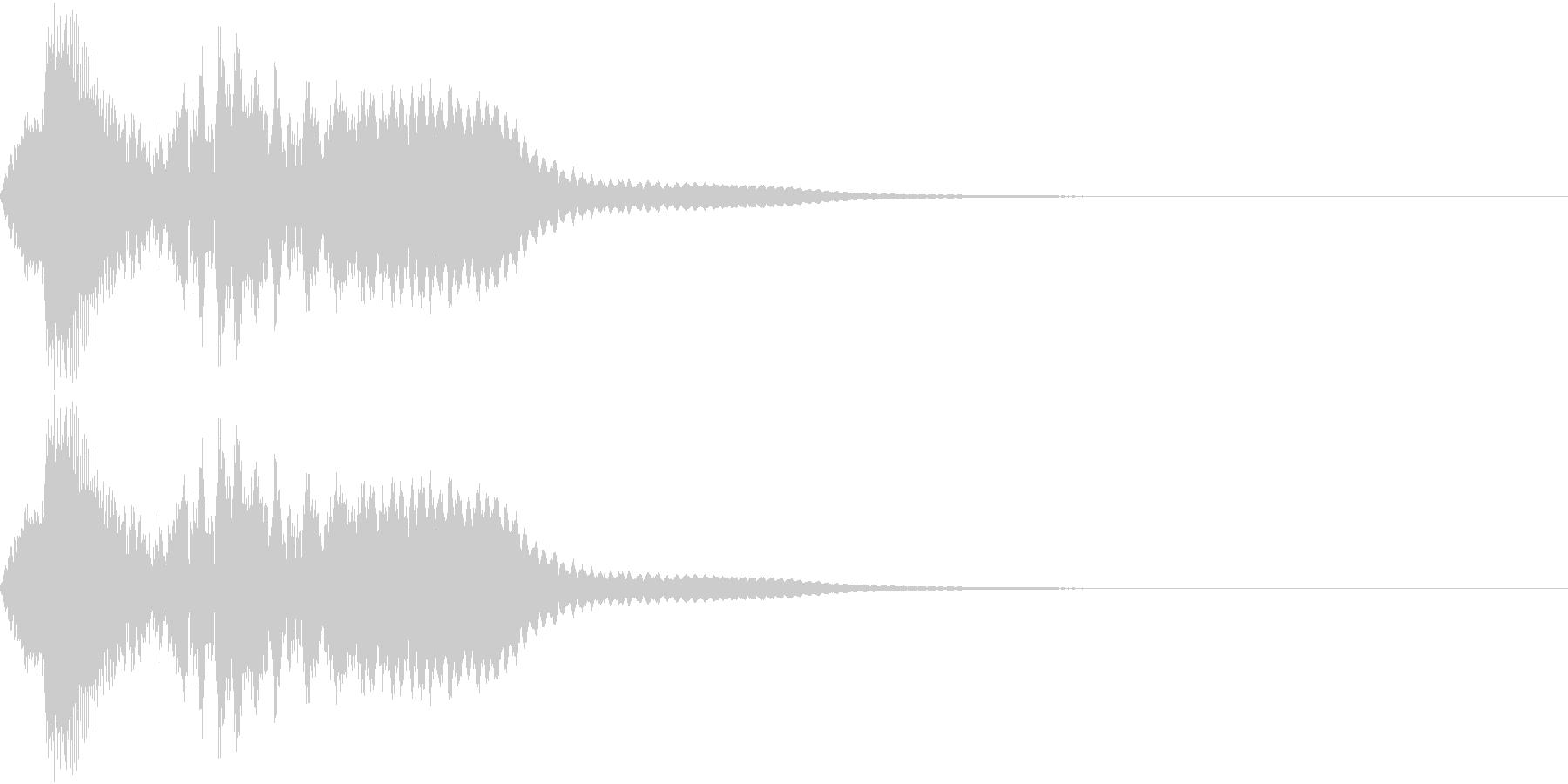 タップ、クリック(パンフルート上昇)の未再生の波形