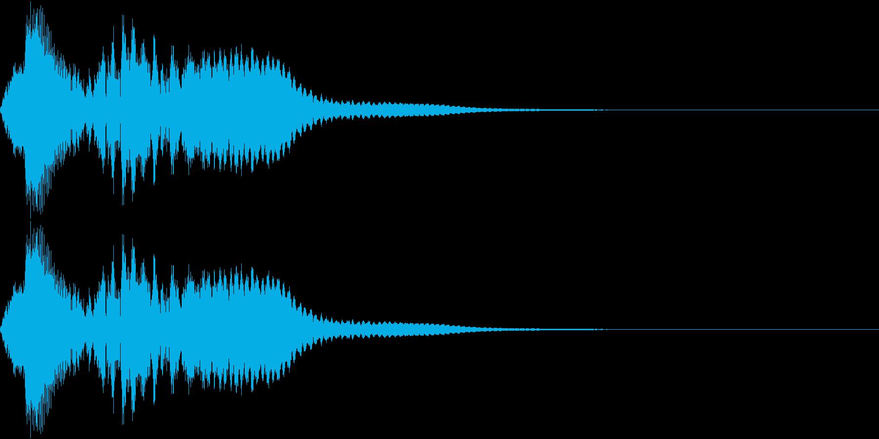 タップ、クリック(パンフルート上昇)の再生済みの波形