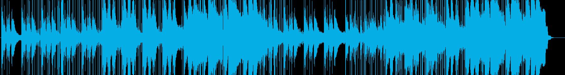 ピアノを使ったヒップホップの再生済みの波形