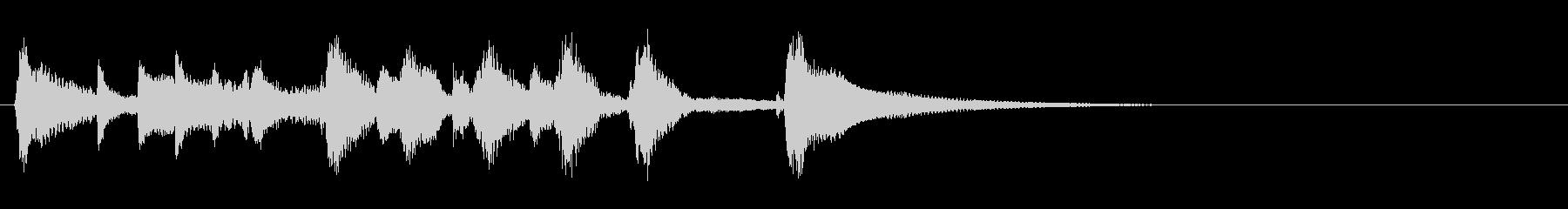 スチールパンとウクレレの明るいジングルの未再生の波形