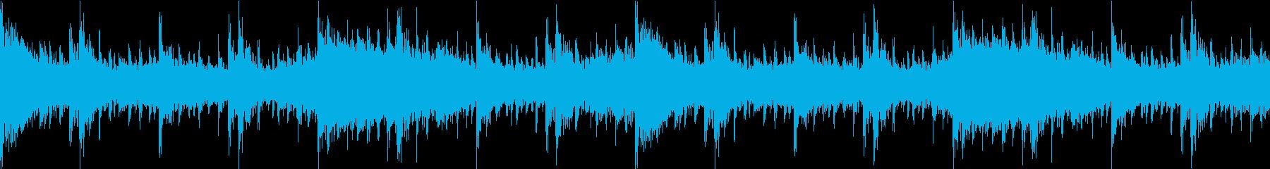 エスニックで不気味な感じのBGMの再生済みの波形