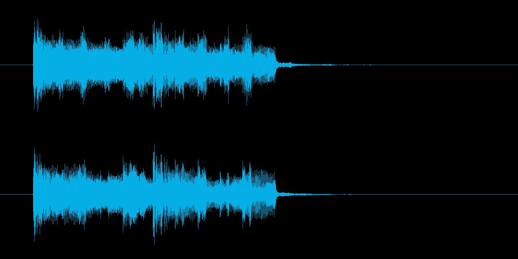 シックでベースが印象的なロックの再生済みの波形