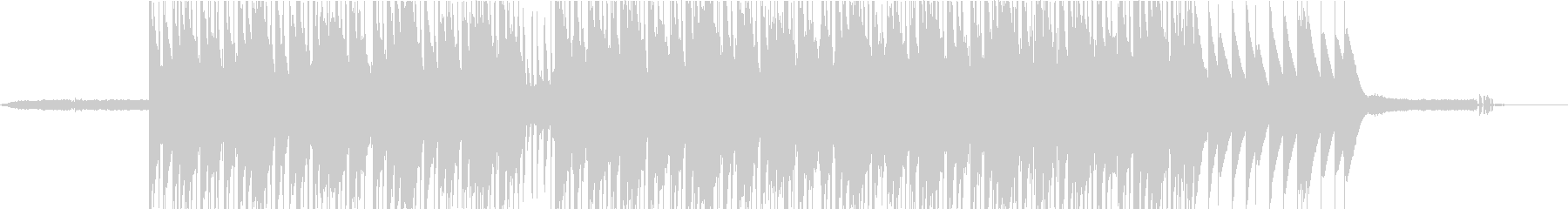 Lo-fiピアノのhiphopの未再生の波形