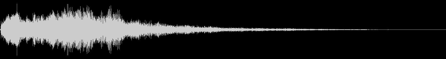 明るいテロップ音 ボタン音 決定音17bの未再生の波形