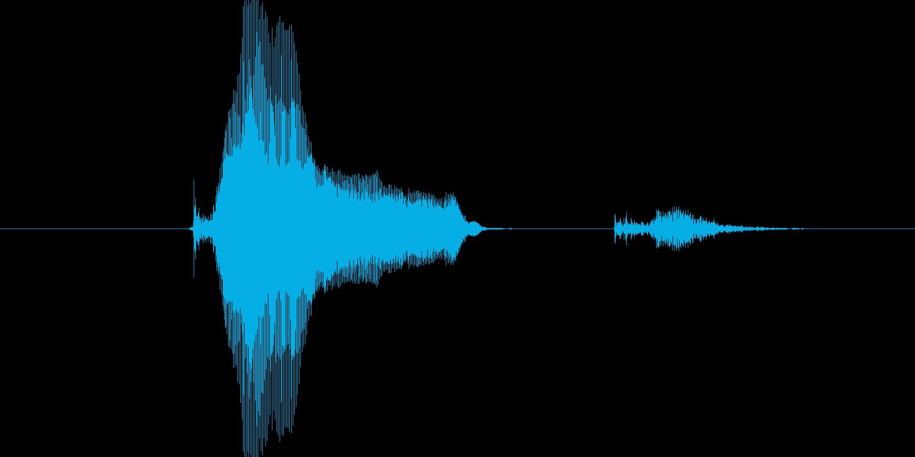 キーック!の再生済みの波形