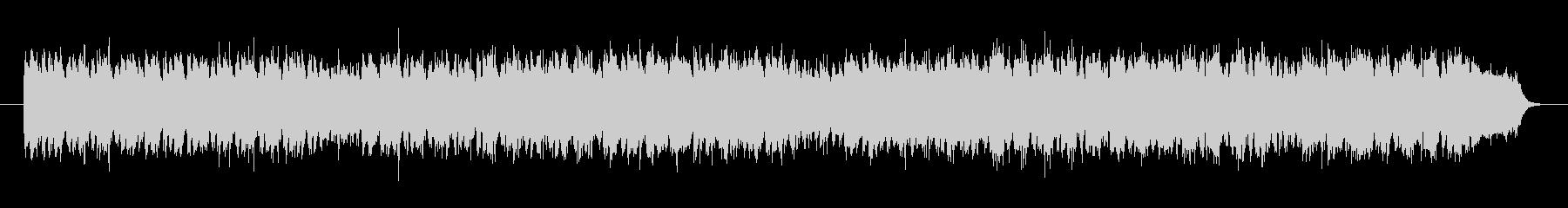 不思議なループで音階のシンセサイザーの曲の未再生の波形