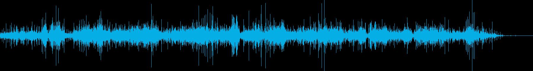袋のガサガサ音01の再生済みの波形