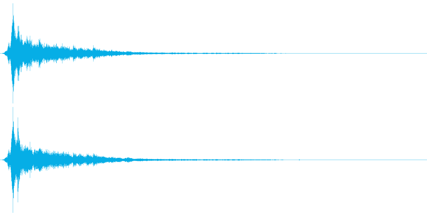 「シャン〜〜」象徴的な鈴の音2+リバーブの再生済みの波形
