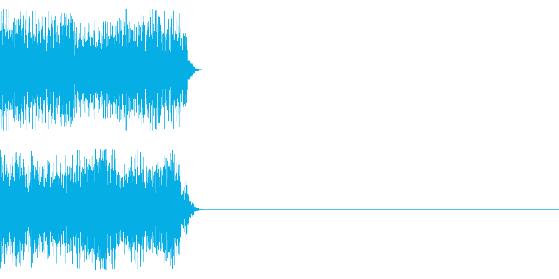 ビーの再生済みの波形