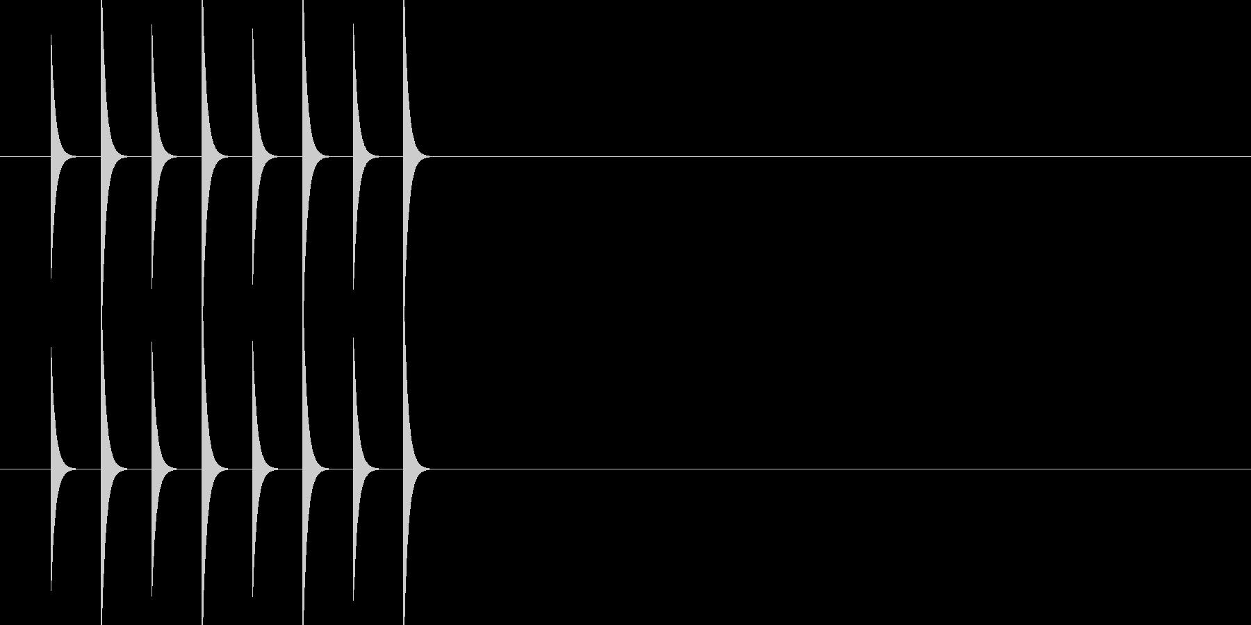ピコピコピコピコ(ファミコン ゲーム音)の未再生の波形