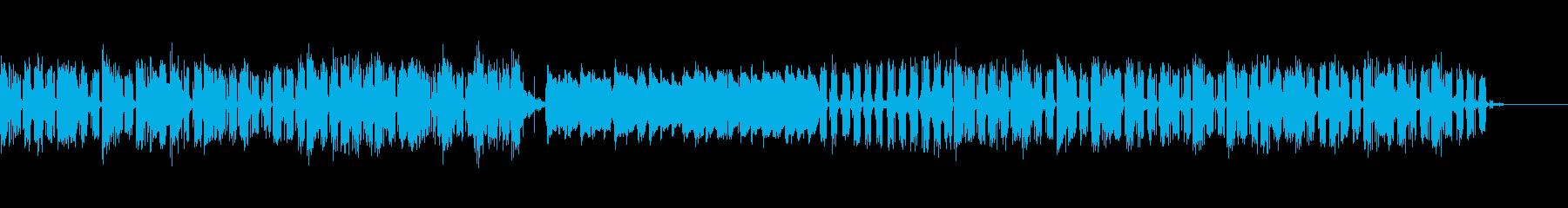 荒廃した近未来イメージの優しい三拍子曲の再生済みの波形