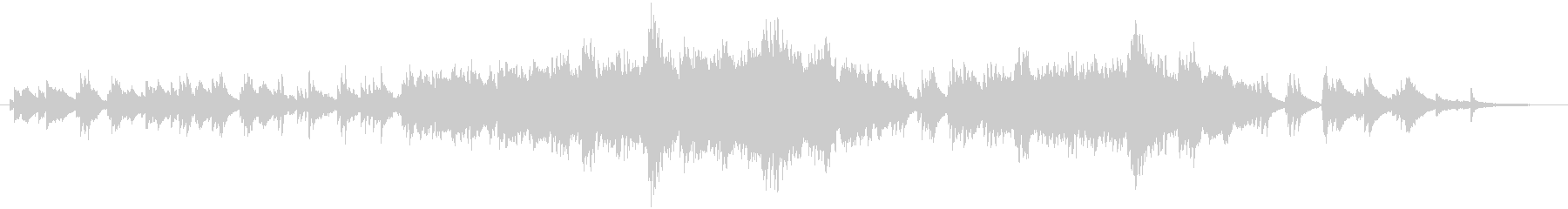 ピアノと弦のバラードです。の未再生の波形
