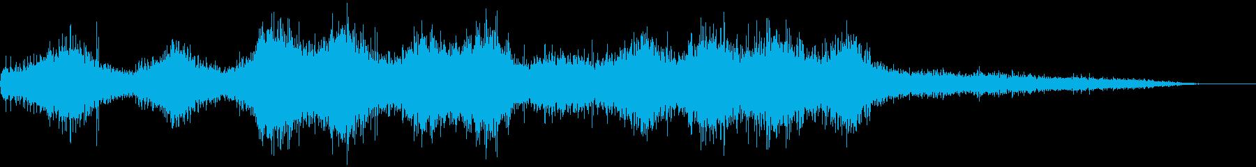 ビュルルルーン!!草刈り機が動きだす音の再生済みの波形