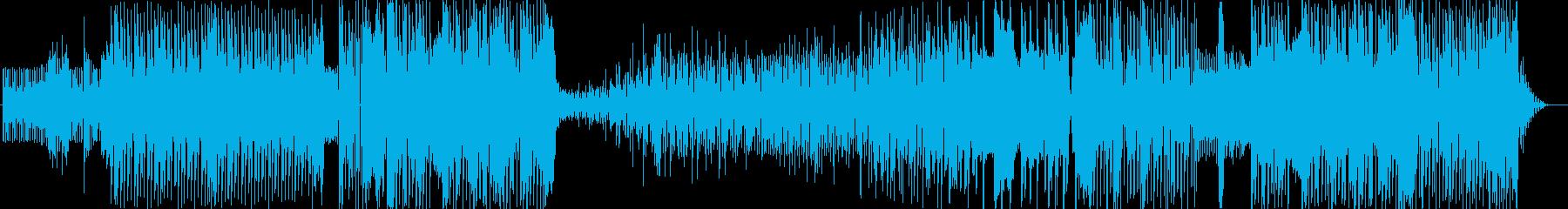 抑揚感のあるテクノソングの再生済みの波形